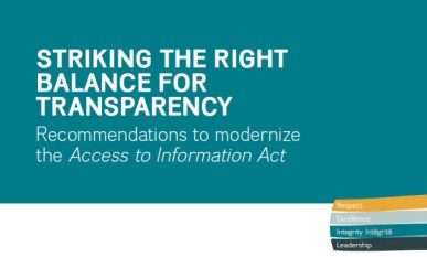 Striking the Right Balance for Transparency - report cover